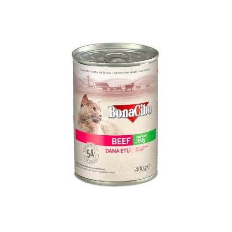 BonaCibo Adult cat Beef Chunks in Jelly